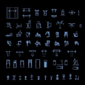 Gym Autocad Blocks Collection