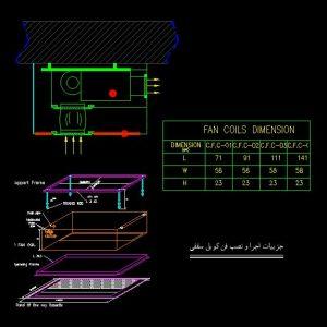 جزییات اجرایی فن کویل سقفی