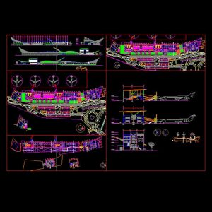 Airport Architectural Autocad Plan