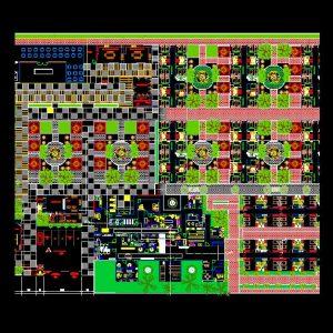 Elderly Home Autocad Architecture Plan