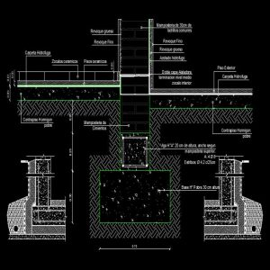 Foundation Waterproofing Autocad Detail