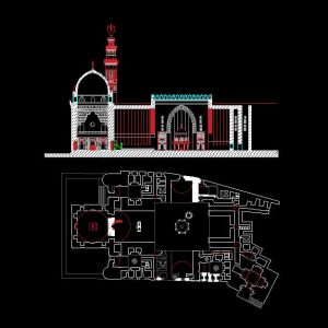 Mosque Autocad Plan