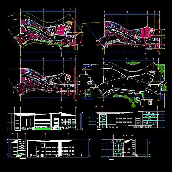 Architectural University Autocad Plan