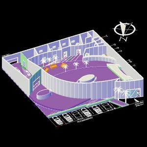 Car-exhibition-Autocad-Plan