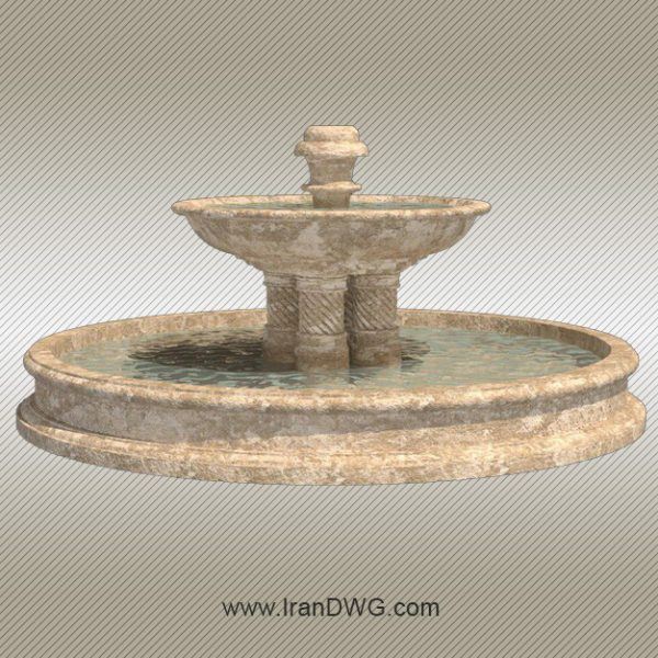 Fountain 3Dmax Object- www.IranDWG.com