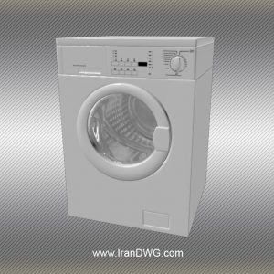 Washing Machine 3Dmax Object- www.IranDWG.com