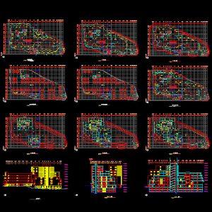 Commercial Complex Autocad Plan - www.IranDWG.com