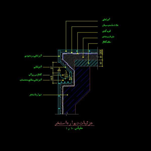 Pool Wall Autocad Detail