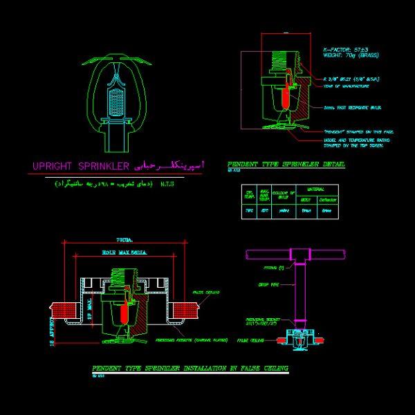 Sprinkler Autocad Detail - www.IranDWG.com