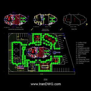 Coffee Shop Autocad Plan - www.IranDWG.com