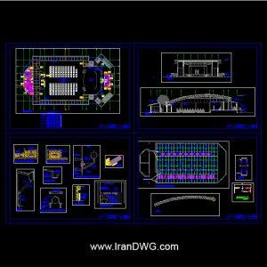 آلبوم نقشه های اتوکد معماری کنسرت