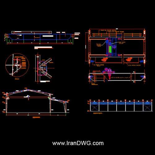 جزییات اجرایی سازه جرثقیل سقفی در سوله