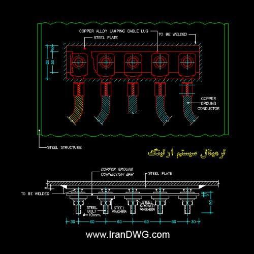 جزییات اجرایی ترمینال سیستم ارتینگ