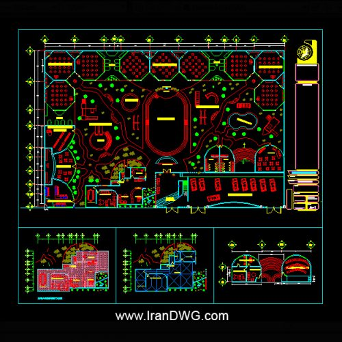 آلبوم نقشه های اتوکد معماری مهد کودک شماره 2