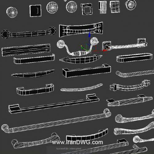 مجموعه آبجکت مکس دستگیره کابینت شماره 1