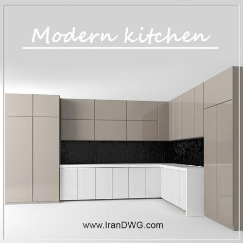 آبجکت مکس کابینت آشپزخانه شماره 1