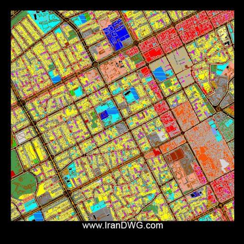 نقشه اتوکد جامع شهر زابل