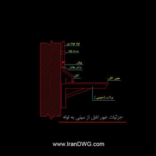 جزییات جامع اجرایی اتوکد سینی نگهدارنده کابل برق شماره 2 به همراه دیتیل های اجرایی