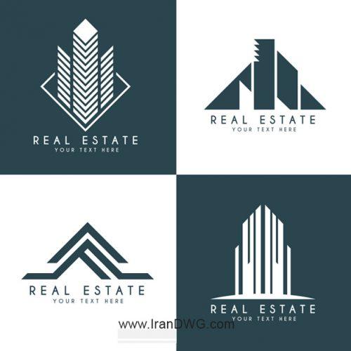 مجموعه لوگوی فتوشاپ شرکت های ساختمانی شماره 5 به صورت لایه باز و قابل ویرایش
