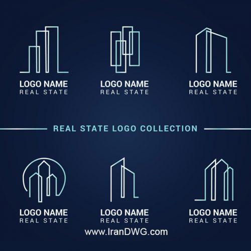 مجموعه لوگوی فتوشاپ شرکت های ساختمانی شماره 6 به صورت لایه باز و قابل ویرایش