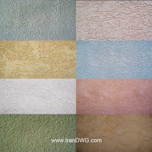 مجموعه تکسچر با کیفیت سیمان شماره 1 در طرح هاو رنگ های مختلف ( 10 طرح متنوع )