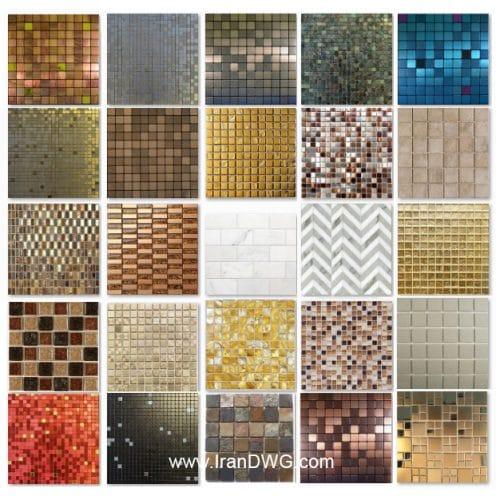 مجموعه تکسچر با کیفیت کاشی بین کابینت آشپزخانه شماره 1 در طرح های مختلف ( 25 طرح متنوع )