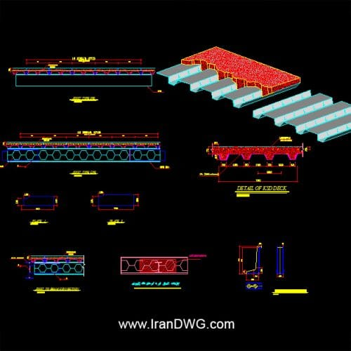 جزییات اجرایی اتوکد سقف متال دک شماره 2 به همراه دیتیل های اجرایی