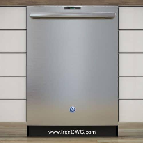 آبجکت تری دی مکس ماشین ظرفشویی شماره 2 به همراه تکسچر