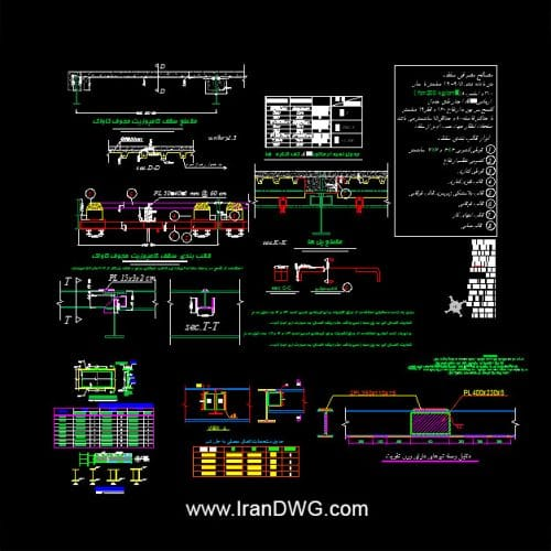 جزییات اجرایی اتوکد سقف کامپوزیت مجوف کاواک با تمام دیتیل های اجرایی و سازه ای