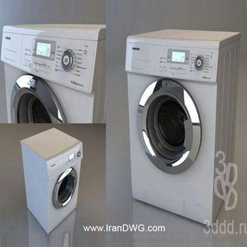 آبجکت تری دی مکس ماشین لباسشویی شماره 2 به همراه تکسچر