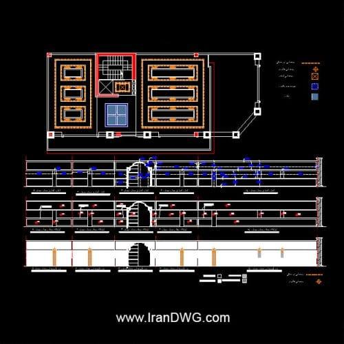 آلبوم جامع نقشه های اجرایی نمای رومی به همراه طراحی داخلی و رندر و عکس نمای رومی