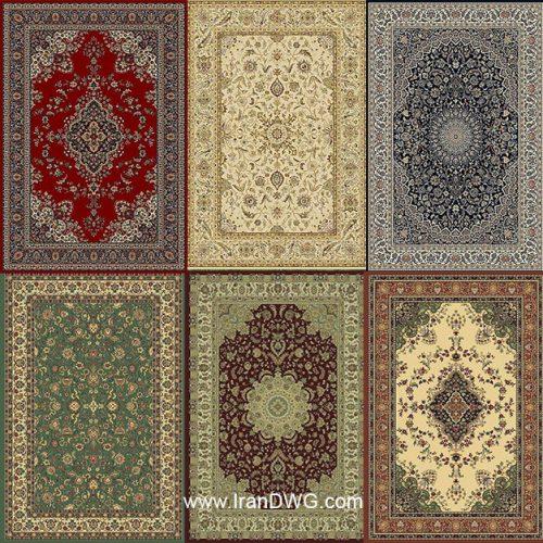 مجموعه تکسچر با کیفیت فرش ایرانی شماره 1 در طرح های مختلف ( 7 طرح متنوع )
