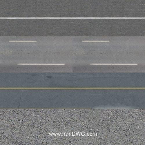 مجموعه تکسچر با کیفیت آسفالت خیابان شماره 1 در طرح های مختلف ( 5 طرح متنوع )