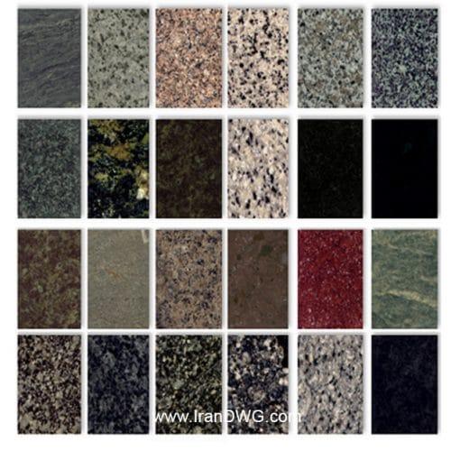مجموعه تکسچر سنگ گرانیت با کیفیت سقف شیروانی شماره 1 در طرح های مختلف ( 45 طرح متنوع )