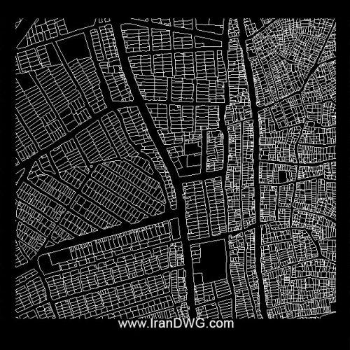 نقشه اتوکد جامع شهر کرج با تمام جزییات قطعه بندی ، معابر ، مناطق و ...
