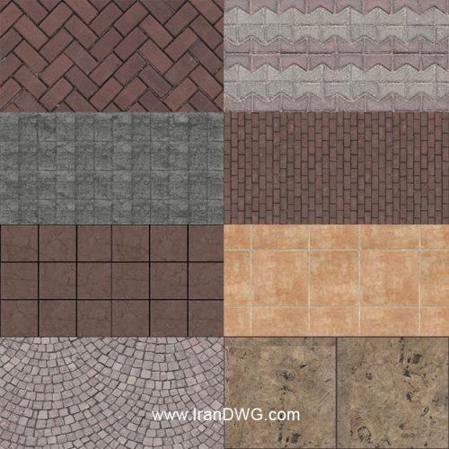 مجموعه تکسچر موزاییک و سنگ کفپوش با کیفیت شماره 1 در طرح های مختلف ( 10 طرح متنوع )