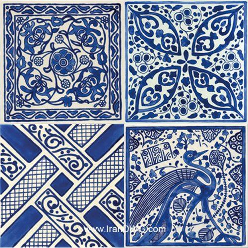 مجموعه تکسچر با کیفیت کاشی سنتی ایرانی شماره 1 در طرح های مختلف ( 4 طرح )
