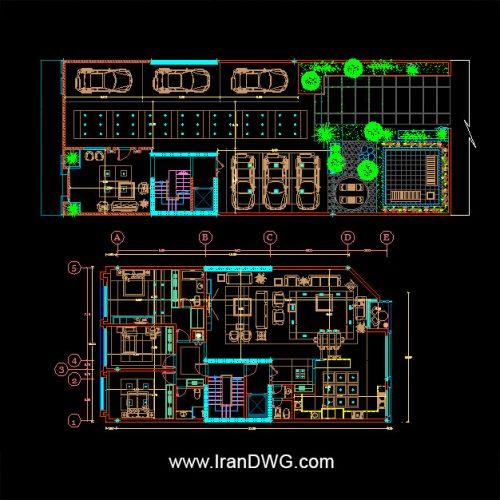 آلبوم نقشه های اتوکد نمای اجرایی کلاسیک به همراه رندر | نقشه اتوکد پلان اجرایی معماری با ابعاد 12*19 ( عرض 12 و طول 19 ) | نقشه اتوکد اجرایی طراحی معماری داخلی و پارکینگ و روف گاردن | تصاویر با کیفیت طرح رندر 3 بعدی | طراحی شده توسط سامانه آنلاین طراحی ساختمان ایران | www.OnlineDWG.com