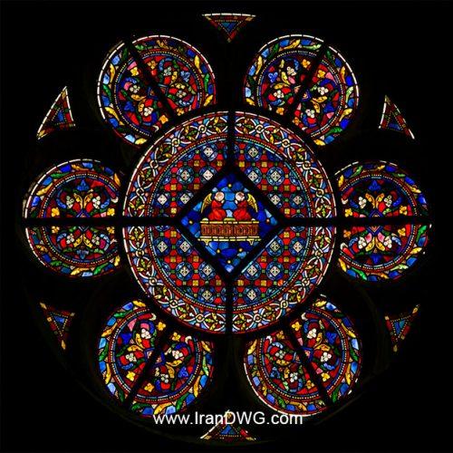تکسچر با کیفیت شیشه رنگی سنتی شماره 1