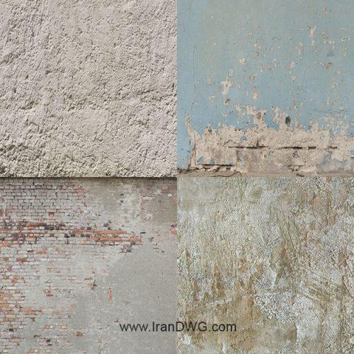 مجموعه تکسچر با کیفیت دیوار کثیف شماره 1 در طرح های مختلف ( 8 طرح متنوع )