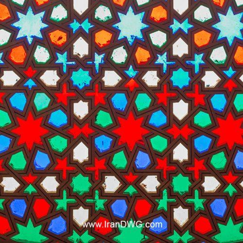 تکسچر با کیفیت شیشه رنگی سنتی شماره 2