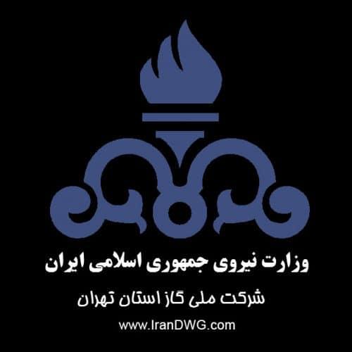 بلاک لوگوی اتوکد شرکت ملی گاز ایران