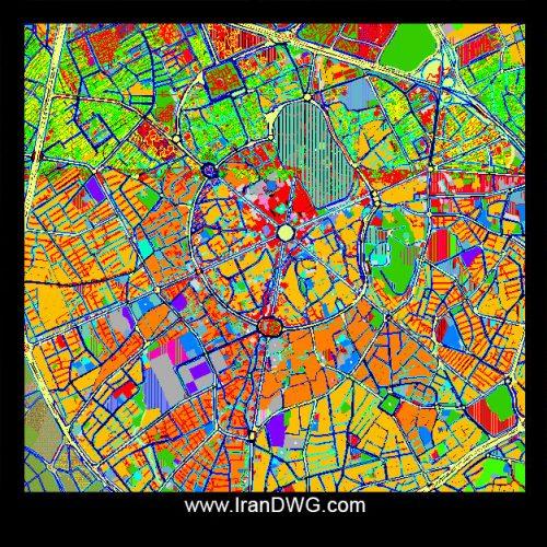 نقشه اتوکد جامع شهر همدان با تمام جزییات قطعه بندی ، معابر ، مناطق و ...