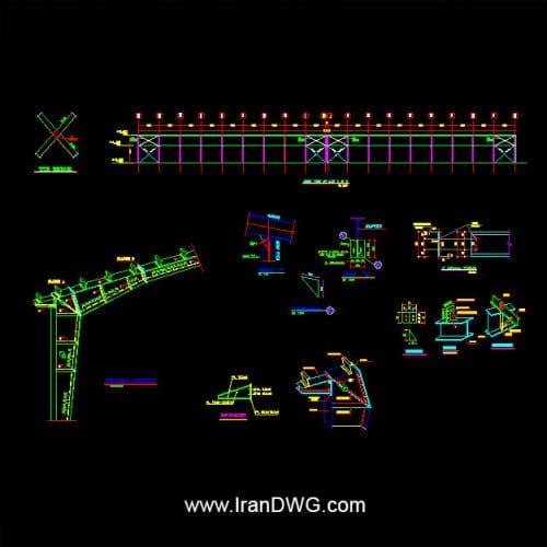 آلبوم نقشه های اجرایی سازه و معماری سوله با عرض 70 متر شامل : نقشه های اتوکد سازه ، فونداسیون سوله با عرض 70 متر و طول 120 متر کلیه دیتیل های اجرایی سازه ، فونداسیون ، اتصالات ، سقف و ... طراحی شده توسط مهندسین مشاور برای شرکت تلولیدی تجهیزات پزشکی