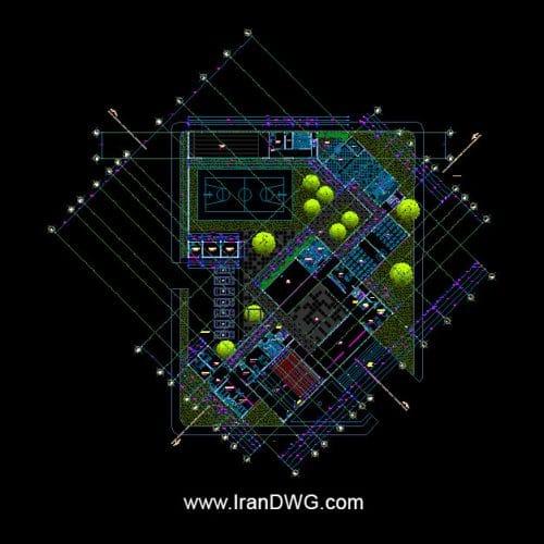 آلبوم نقشه های معماری زندان و بازداشتگاه شماره 1 به همراه نما و برش