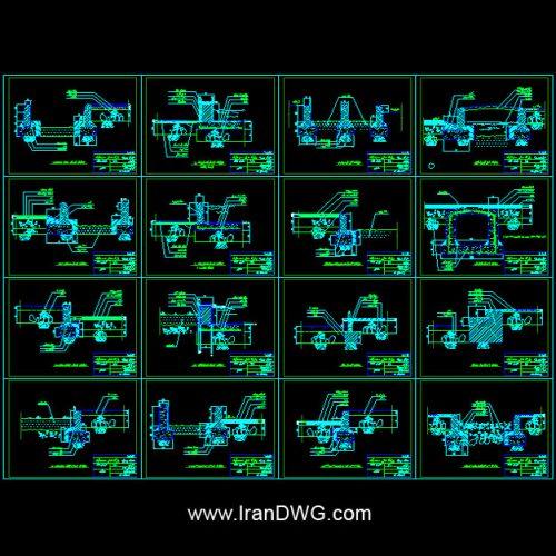 مجموعه جزییات اجرایی اتوکد محوطه سازی پارک و فضای سبز | جزییات اجرایی اتوکد پیاده رو ، آبنما ، جوب آب ، پل فلزی ، پله محوطه ، سکو | جزییات اجرایی اتوکد فضای سبز ، مسیر دوچرخه ، زمین بازی کودکان | طراحی شده توسط شرکت مهندسین مشاور برای شهرداری تهران