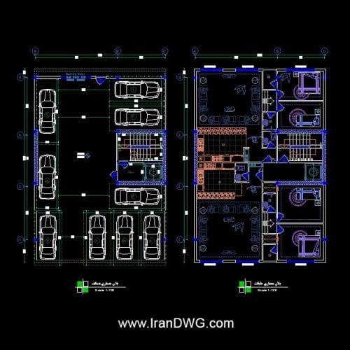 طراحی اجرایی پلان معماری ۱۲ در ۱۸ جنوبی دو واحدی شامل : پلان معماری طبقات و پارکینگ به همراه اندازه گذاری و مبلمان طراحی شده با استفاده از مجموعه بلاک مبلمان فول داینامیک طراحی شده توسط سامانه آنلاین طراحی ساختمان ایران | www.OnlineDWG.com مناسب برای شرکت های مشاور ، دفاتر مهندسی ، مهندسین ، دانشجویان و کارفرمایان محترم